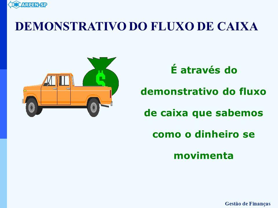 É através do demonstrativo do fluxo de caixa que sabemos como o dinheiro se movimenta DEMONSTRATIVO DO FLUXO DE CAIXA Gestão de Finanças