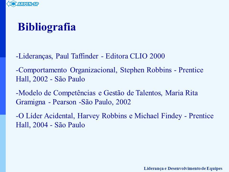 Bibliografia -Lideranças, Paul Taffinder - Editora CLIO 2000 -Comportamento Organizacional, Stephen Robbins - Prentice Hall, 2002 - São Paulo -Modelo