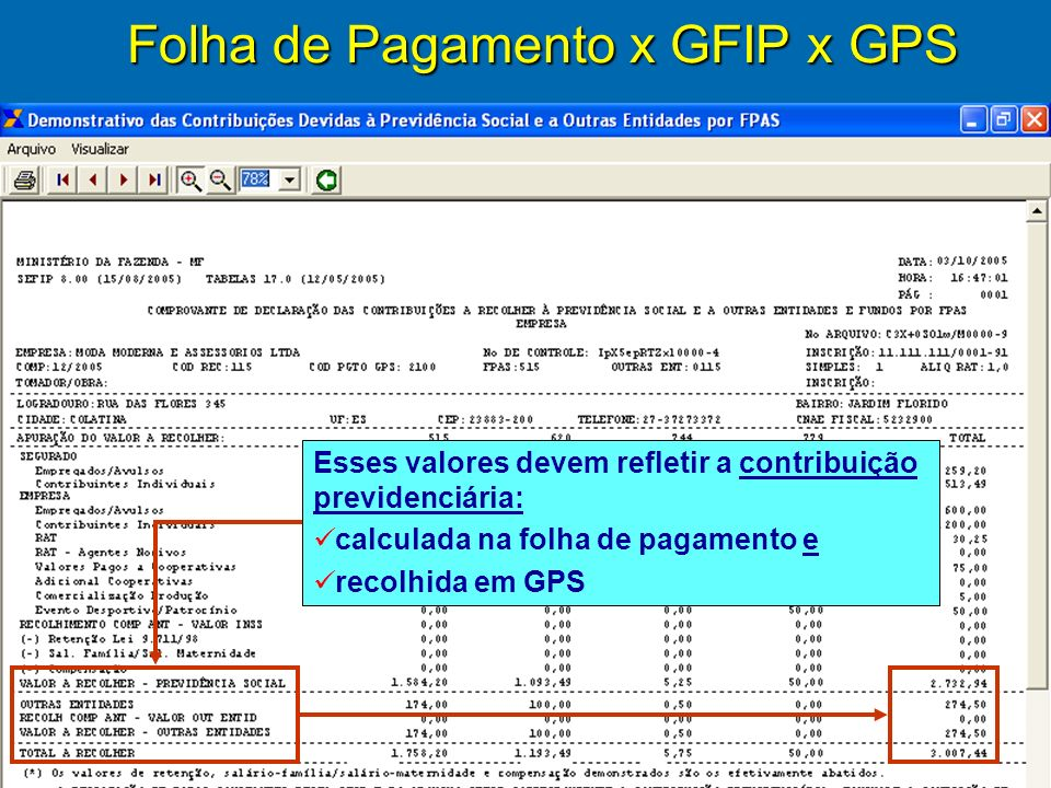 49 Gravação automática dos arquivos gerados no fechamento do SEFIP Pasta identificada com o Número do Arquivo impresso nos relatórios emitidos pelo SEFIP contendo: Backup anterior ao fechamento SEFIPCR.SFP