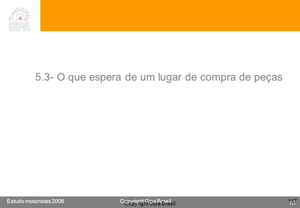 Etude conducteur 2005Copyright Gipa Brasil 117 Base : 3790 Estudo motoristas 2006Copyright Gipa Brasil 117 Copyright Gipa Brasil 117 5.3- O que espera