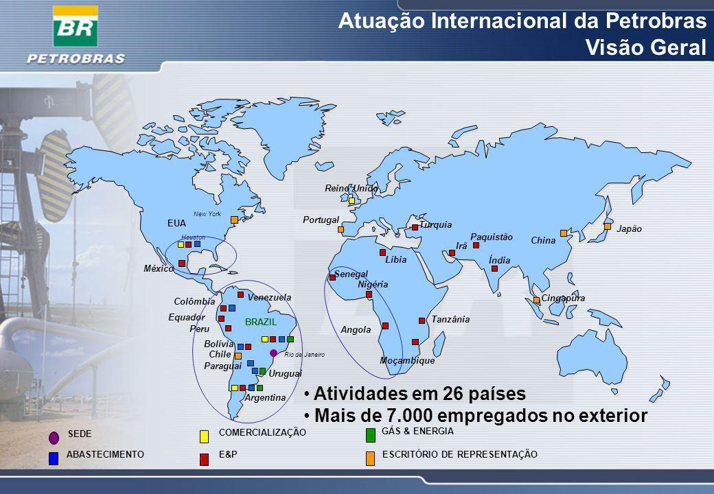 Petrobras: 15,02 bilhões boe Área Internacional: 1,27 bilhões boe Critério SPE Reservas Provadas 2006