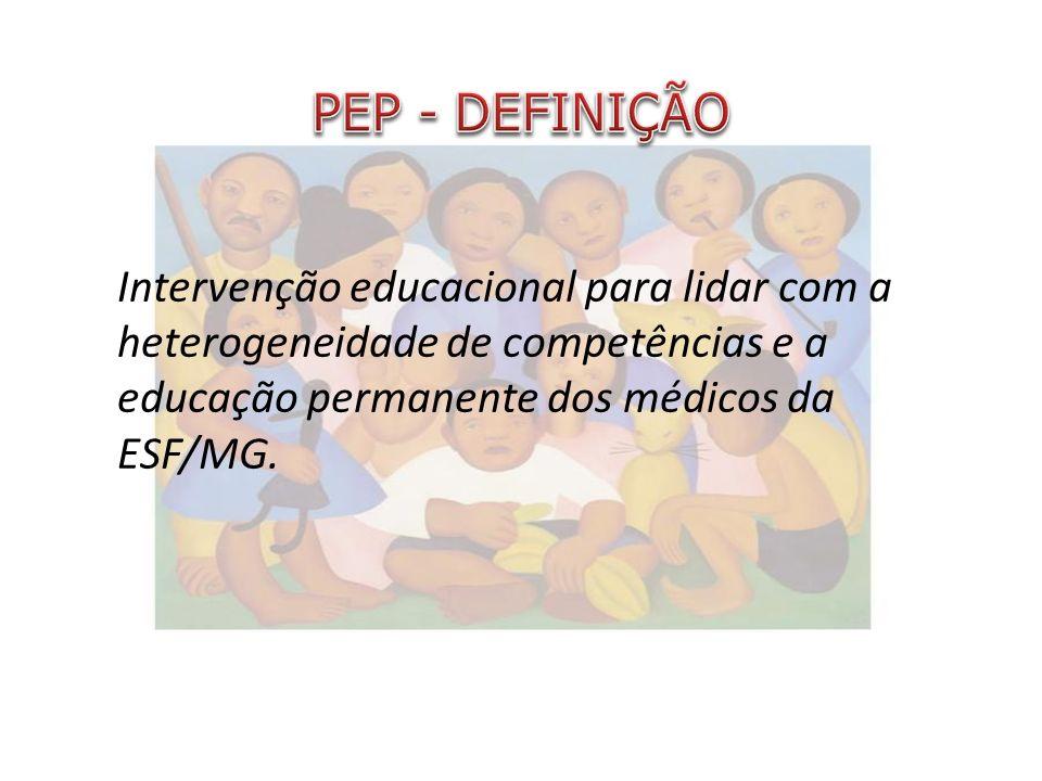 Intervenção educacional para lidar com a heterogeneidade de competências e a educação permanente dos médicos da ESF/MG.