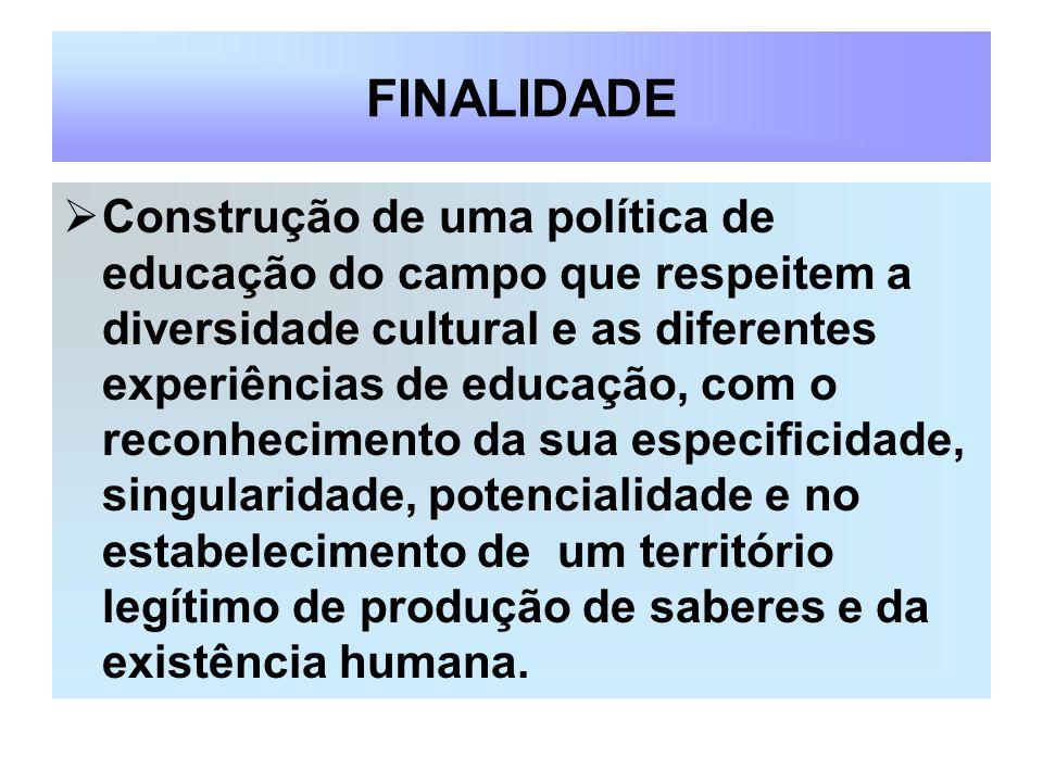 SEMINÁRIO ESTADUAL EDUCAÇÃO DO CAMPO (Realização dezembro de 2004) OBJETIVO: Sensibilização dos Gestores públicos para a implementação da Educação do Campo Mapeamento das demandas específicas do Estado e dos Municípios