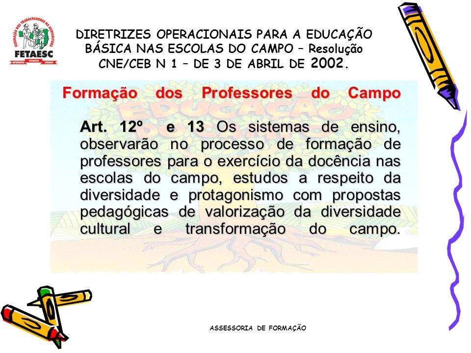 ASSESSORIA DE FORMAÇÃO Financiamento da Educação Art.