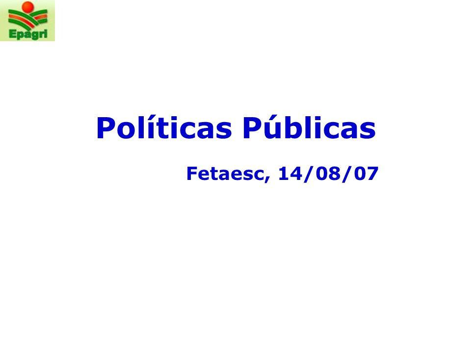 Políticas Públicas Fetaesc, 14/08/07