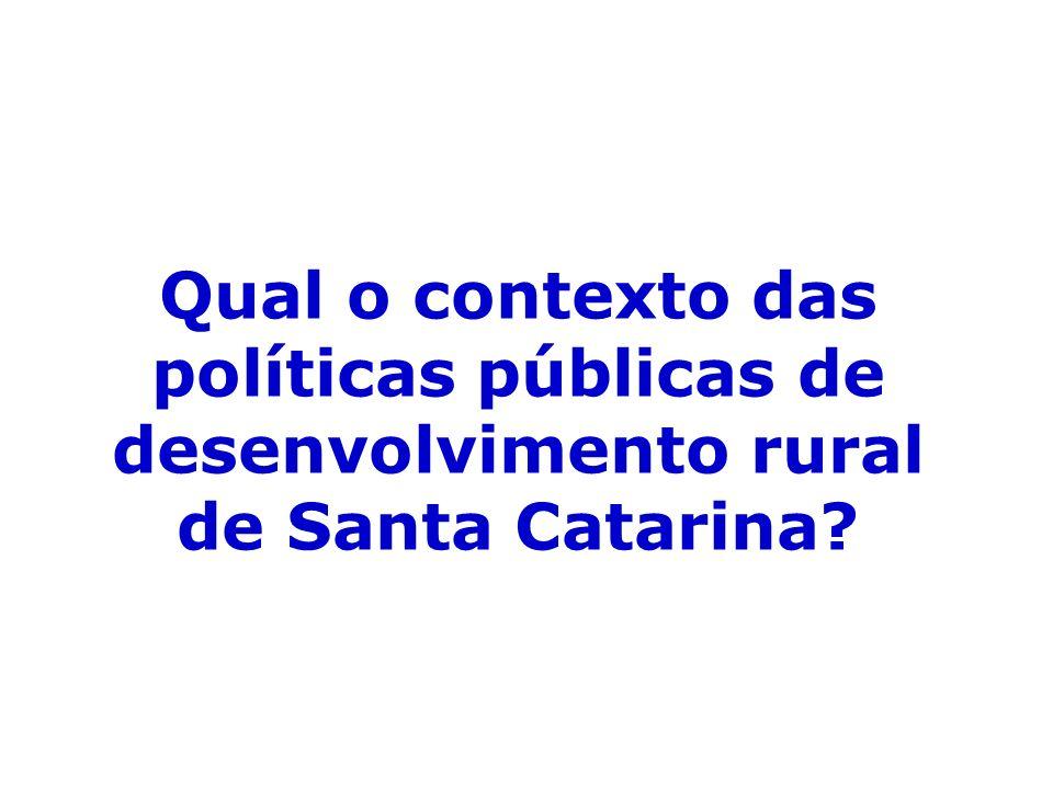 Qual o contexto das políticas públicas de desenvolvimento rural de Santa Catarina
