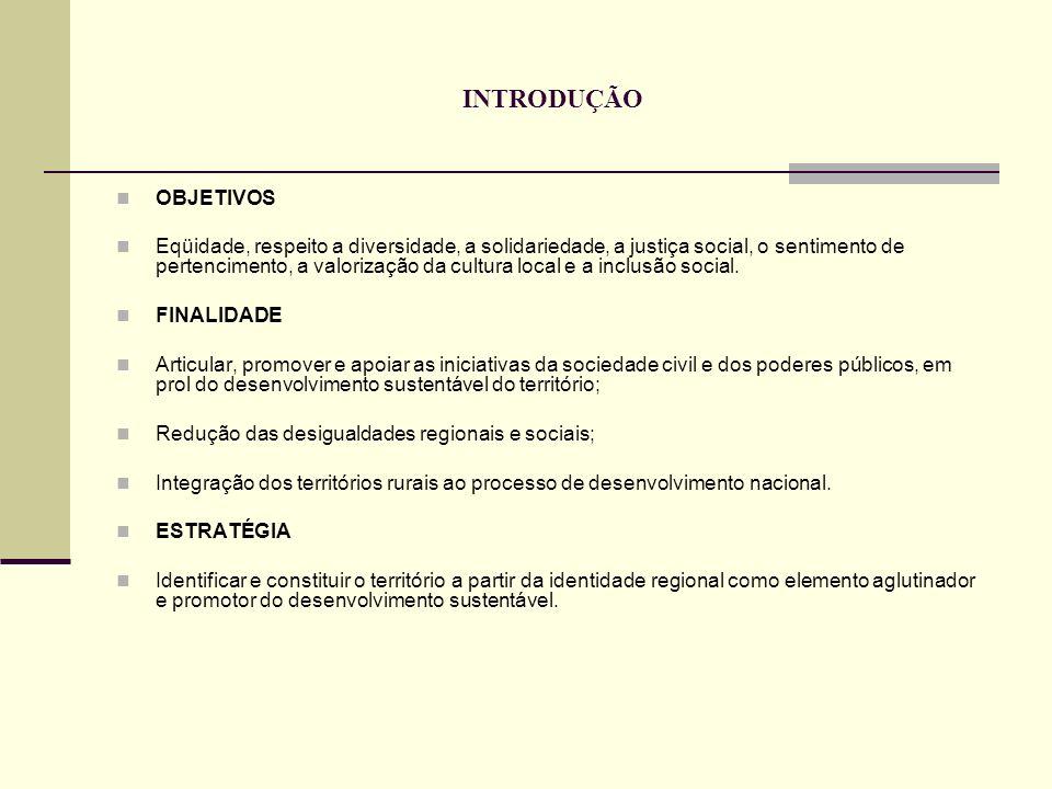 INTRODUÇÃO VISÃO Integração dos espaços, dos atores sociais, dos agentes, dos mercados e das políticas públicas.