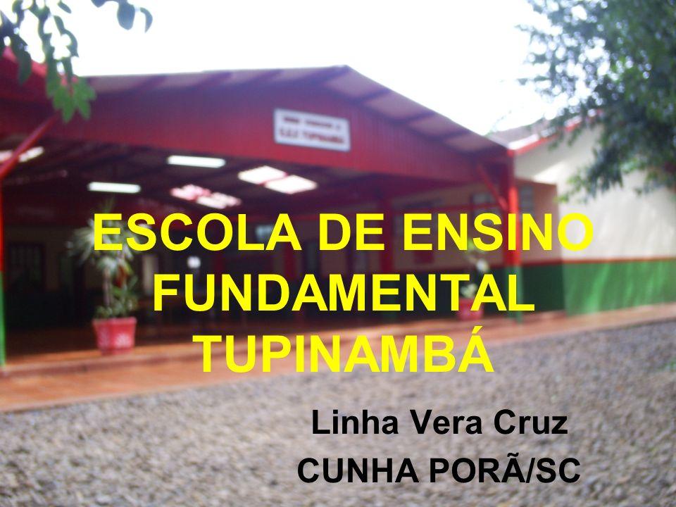 ESCOLA DE ENSINO FUNDAMENTAL TUPINAMBÁ Linha Vera Cruz CUNHA PORÃ/SC