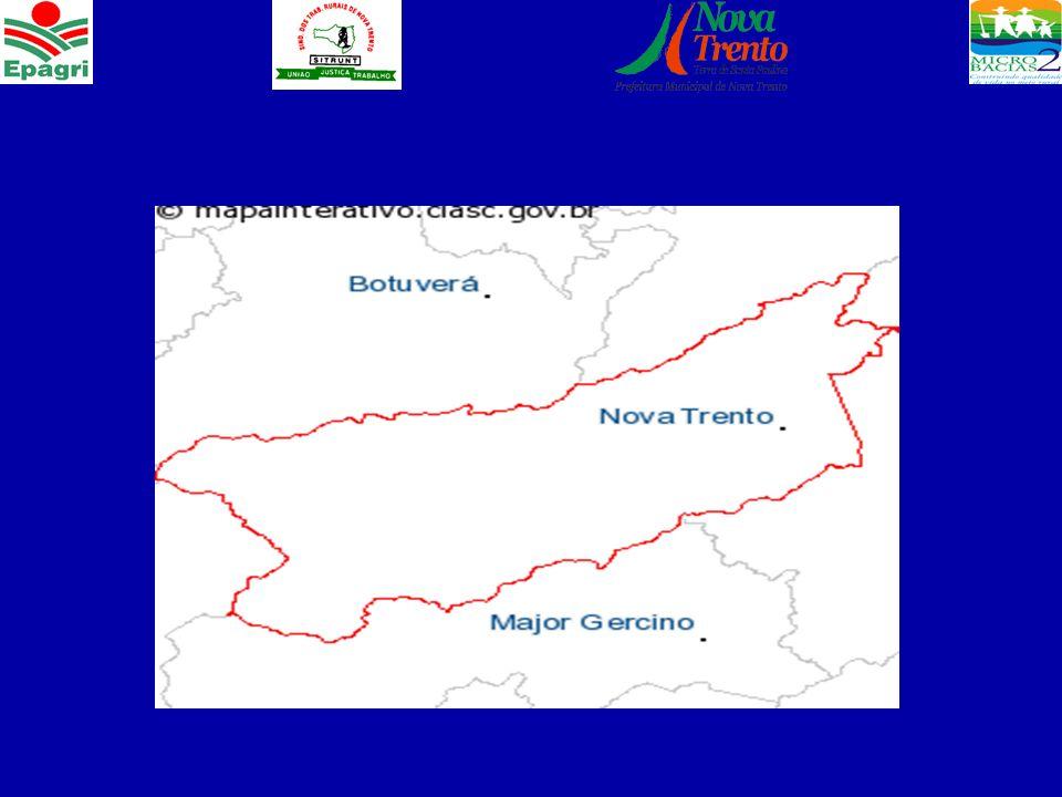 Características do Município Área total de 431 km², equivale a 6,07% da área da região da Grande Florianópolis.