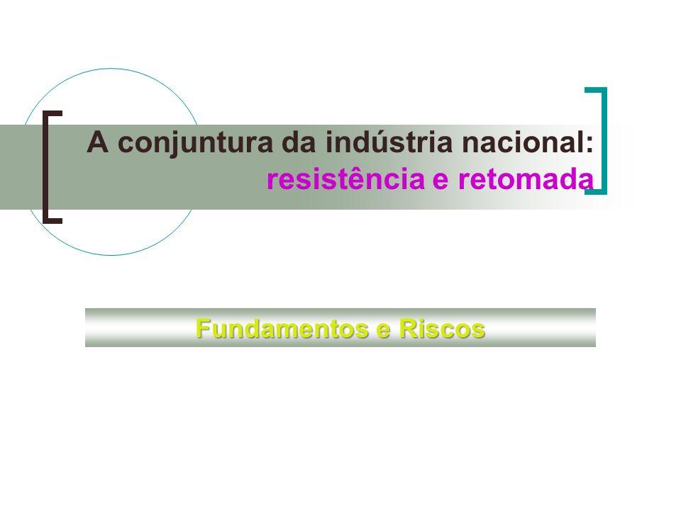 A conjuntura da indústria nacional: resistência e retomada Fundamentos e Riscos
