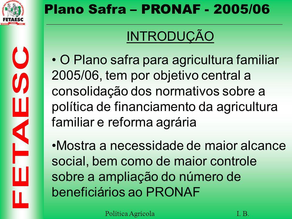 Política Agrícola I.B.