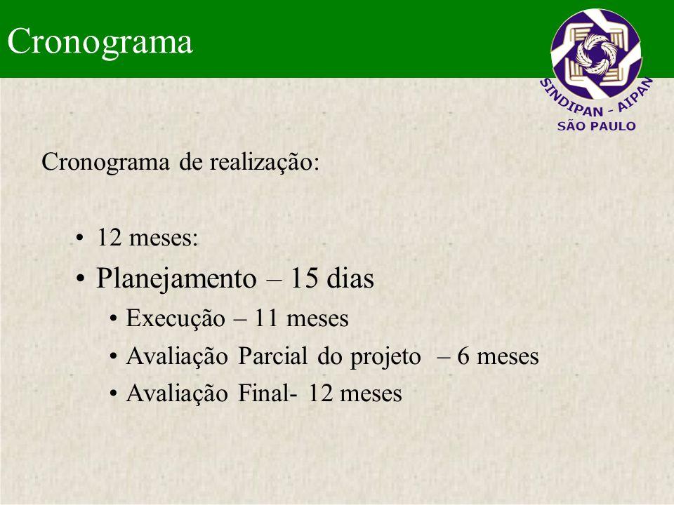 Investimento Elaboração, Planejamento, Execução, Acompanhamento e Avaliação do Projeto DETALHAMENTO E ELABORAÇÃO DO PROJETO Entrada: R$ 3.000,00.