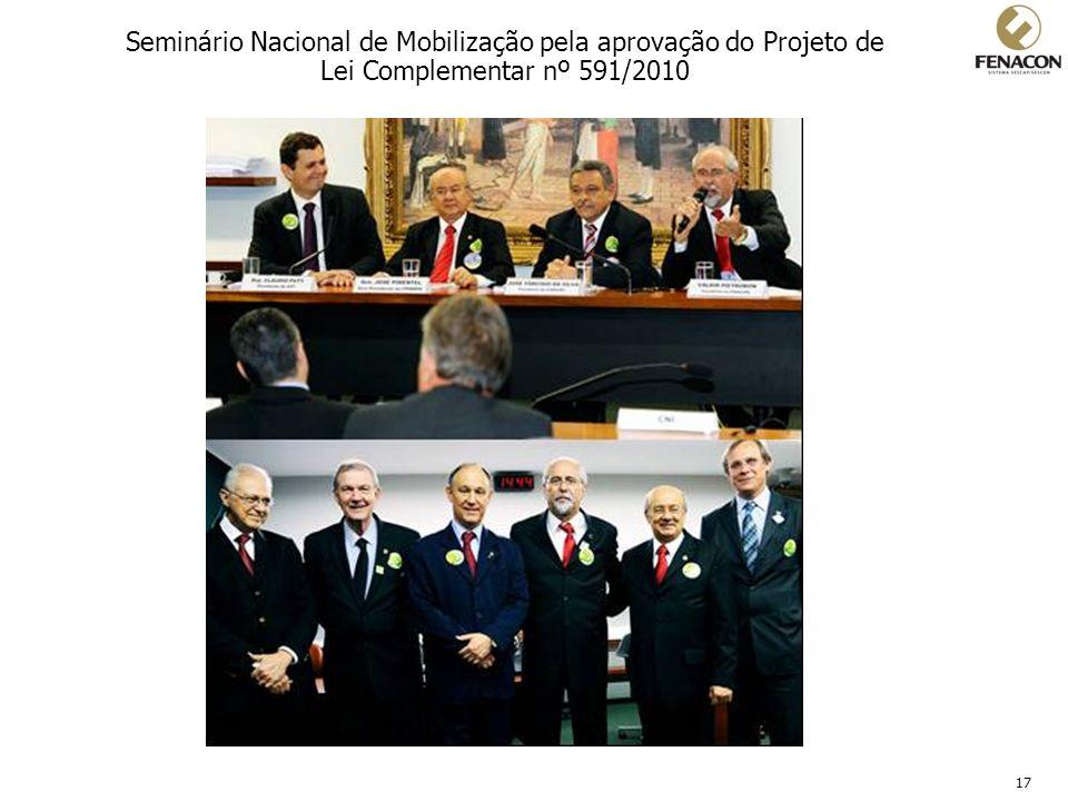 17 Seminário Nacional de Mobilização pela aprovação do Projeto de Lei Complementar nº 591/2010