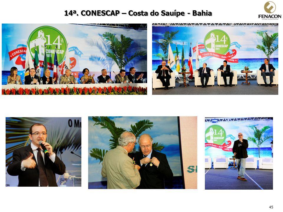 45 14ª. CONESCAP – Costa do Sauípe - Bahia