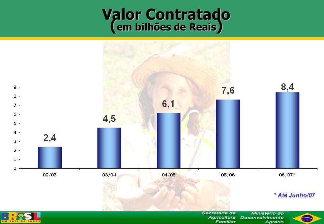 CONQUISTAS 2003 - 2006 Criação do Seguro da Agricultura Familiar Garantia de renda: PGPAF Reconstrução Assistência Técnica e Extensão Rural Apoio à comercialização: PAA e PRONAF- comercialização