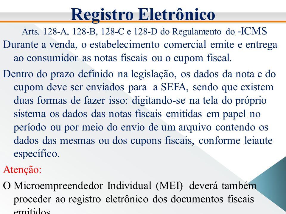 Registro Eletrônico Arts.