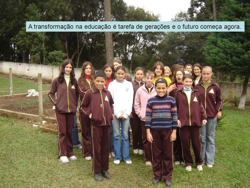 No encontro com professores das escolas multisseriadas lançamento do Projeto Educação do Campo em Itaiópolis, dinâmica dia 10 de maio de 2007.
