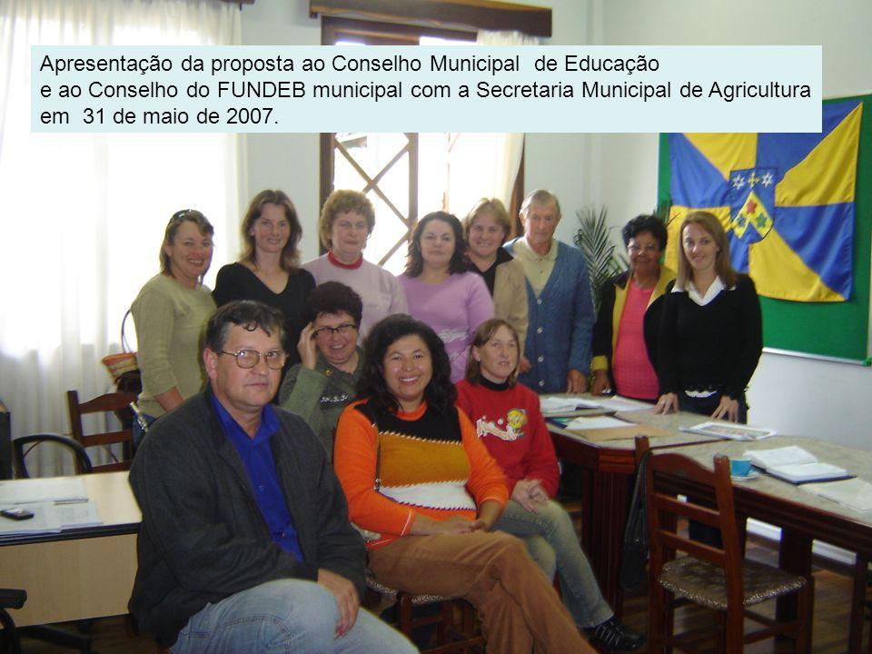 Reunião de Lançamento do Projeto Minha terra, minha vida na Escola Municipal Rio da Estiva dia 4 de junho de 2007.