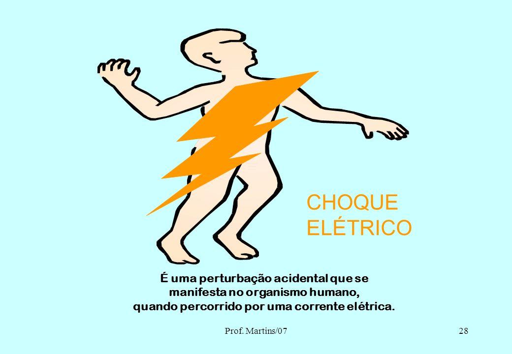 Prof. Martins/0727 O CHOQUE ELÉTRICO