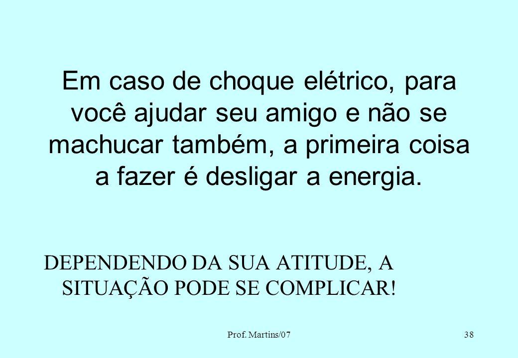Prof. Martins/0737 O ARCO ELÉTRICO PIPAS E REDE ELÉTRICA