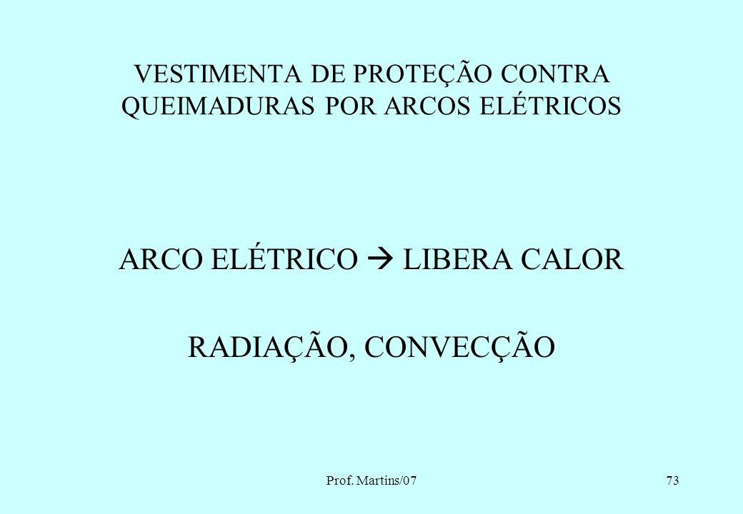 Prof. Martins/0772 10.2.9.2 As vestimentas de trabalho devem ser adequadas às atividades, devendo contemplar a condutibilidade, inflamabilidade e infl
