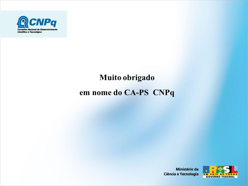 Muito obrigado em nome do CA-PS CNPq