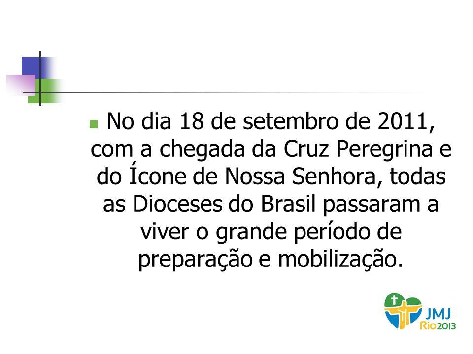 No dia 18 de setembro de 2011, com a chegada da Cruz Peregrina e do Ícone de Nossa Senhora, todas as Dioceses do Brasil passaram a viver o grande perí