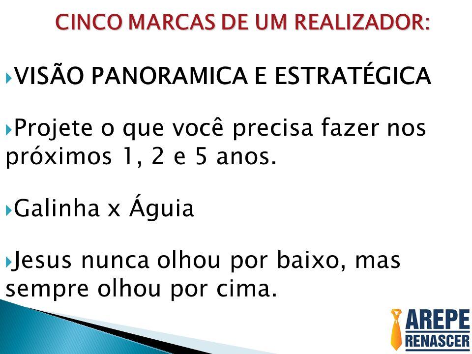 CINCO MARCAS DE UM REALIZADOR: CINCO MARCAS DE UM REALIZADOR: VISÃO PANORAMICA E ESTRATÉGICA Projete o que você precisa fazer nos próximos 1, 2 e 5 an