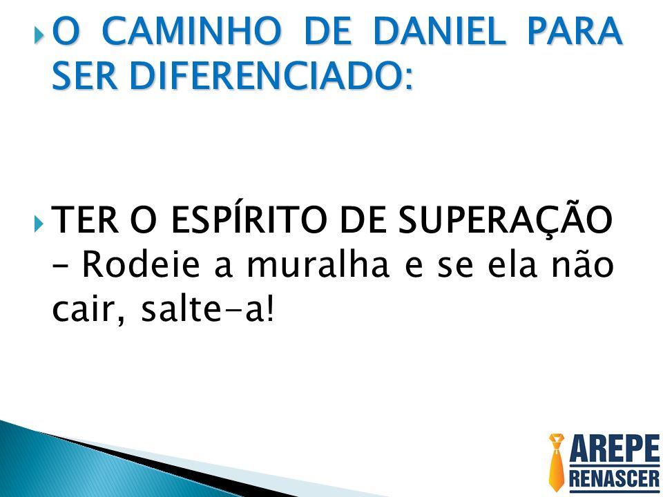 O CAMINHO DE DANIEL PARA SER DIFERENCIADO: O CAMINHO DE DANIEL PARA SER DIFERENCIADO: TER O ESPÍRITO DE SUPERAÇÃO – Rodeie a muralha e se ela não cair