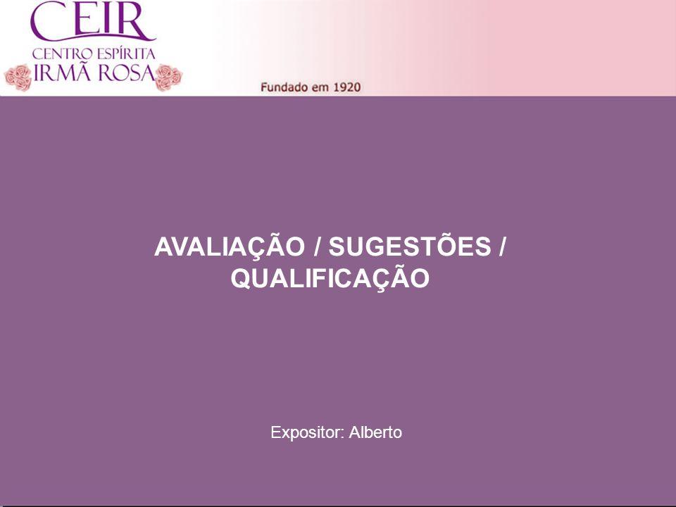 Título 1 Sub-Título 1 Título Principal Elaborado por: nome do autor Junho/2010 AVALIAÇÃO / SUGESTÕES / QUALIFICAÇÃO Expositor: Alberto