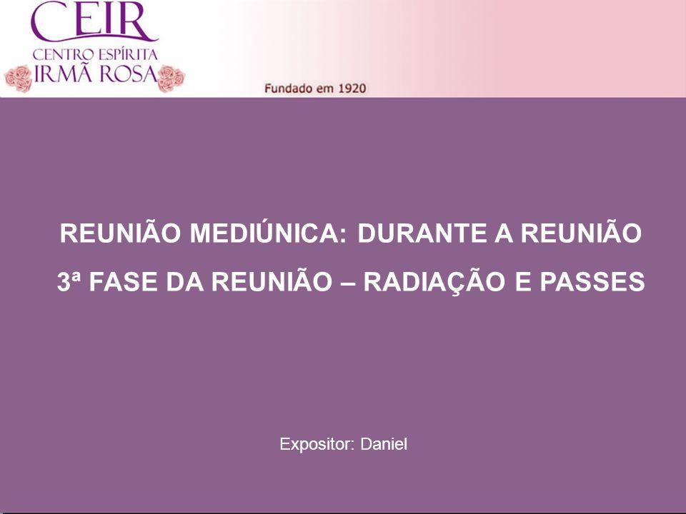 Título 1 Sub-Título 1 Título Principal Elaborado por: nome do autor Junho/2010 REUNIÃO MEDIÚNICA: DURANTE A REUNIÃO 3ª FASE DA REUNIÃO – RADIAÇÃO E PA