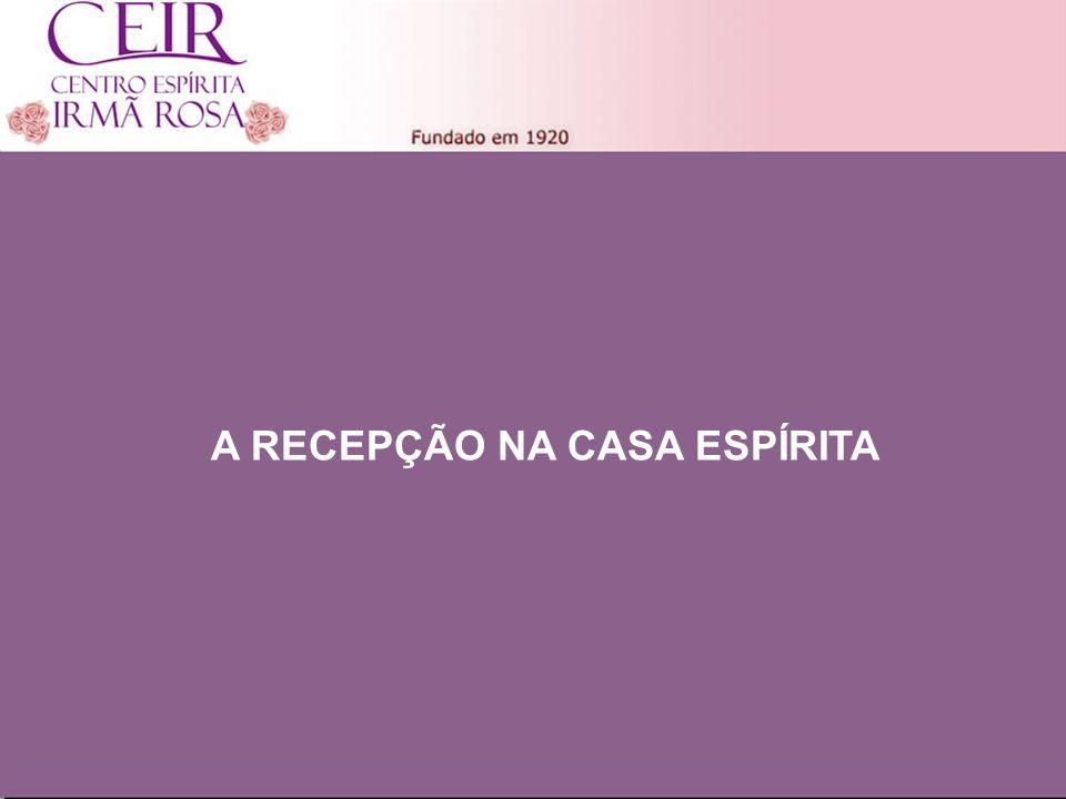 Título 1 Sub-Título 1 Título Principal Elaborado por: nome do autor Junho/2010 A RECEPÇÃO NA CASA ESPÍRITA