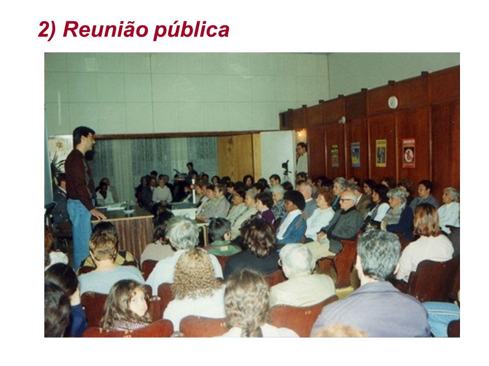 2) Reunião pública
