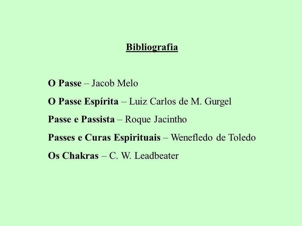Bibliografia O Passe – Jacob Melo O Passe Espírita – Luiz Carlos de M. Gurgel Passe e Passista – Roque Jacintho Passes e Curas Espirituais – Wenefledo