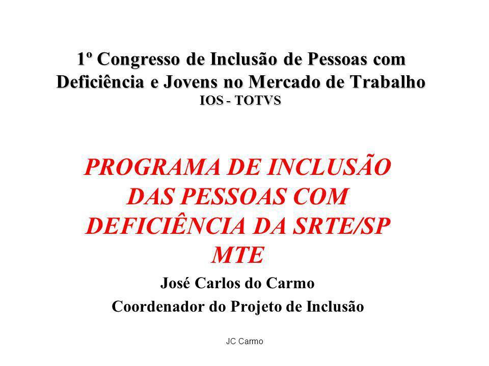 JC Carmo 1º Congresso de Inclusão de Pessoas com Deficiência e Jovens no Mercado de Trabalho IOS - TOTVS PROGRAMA DE INCLUSÃO DAS PESSOAS COM DEFICIÊN