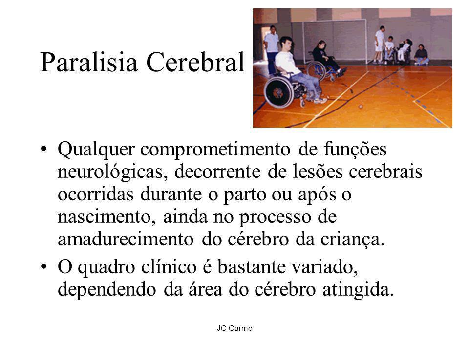 JC Carmo Paralisia Cerebral Qualquer comprometimento de funções neurológicas, decorrente de lesões cerebrais ocorridas durante o parto ou após o nasci
