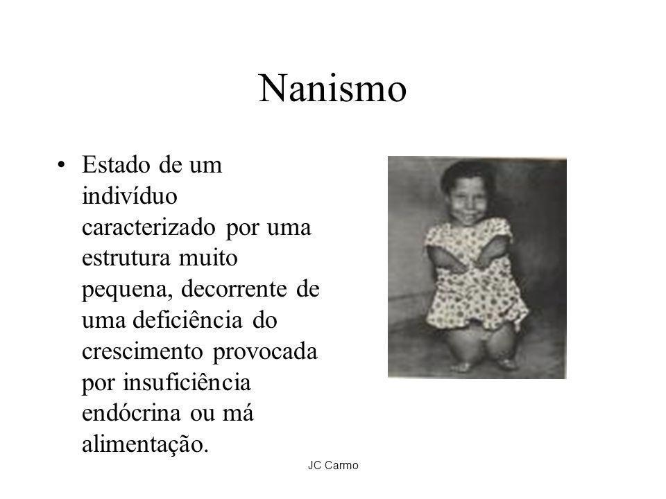 JC Carmo Nanismo Estado de um indivíduo caracterizado por uma estrutura muito pequena, decorrente de uma deficiência do crescimento provocada por insu