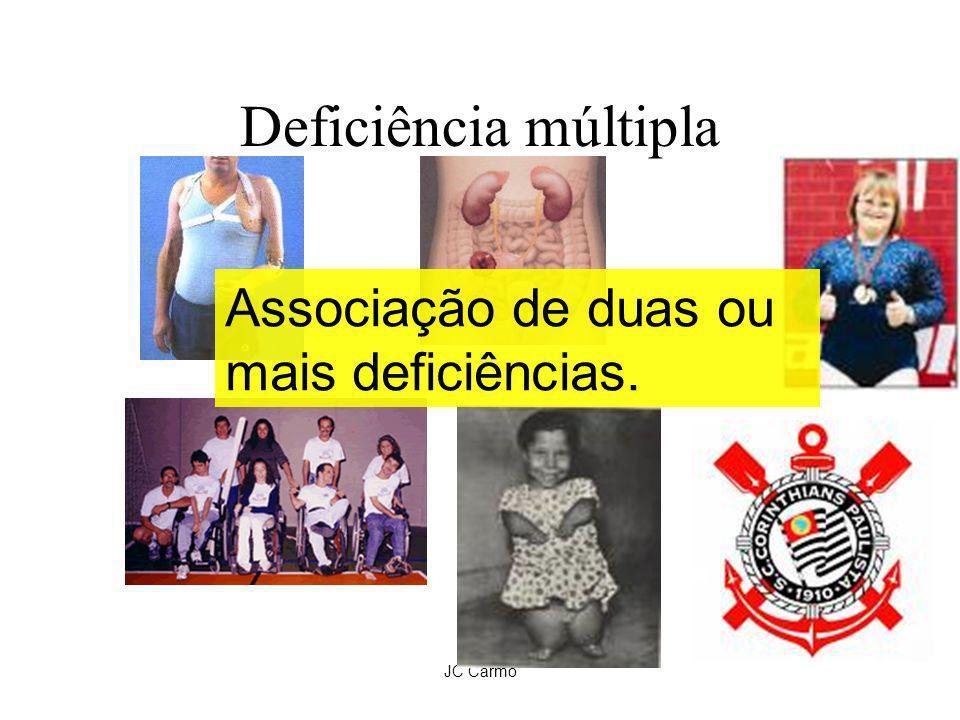 JC Carmo Deficiência múltipla Associação de duas ou mais deficiências.