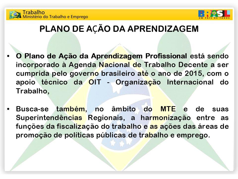 O Plano de Ação da Aprendizagem Profissional está sendo incorporado à Agenda Nacional de Trabalho Decente a ser cumprida pelo governo brasileiro até o
