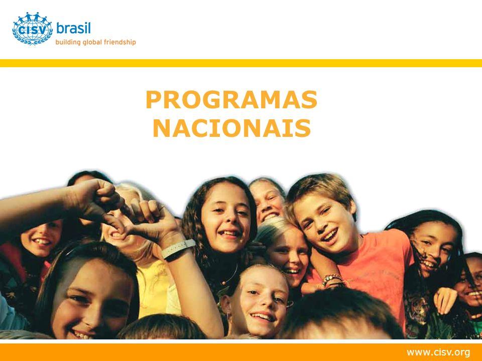 www.cisv.org VAGAS ADICIONAIS NACIONAL SEM ESTRUTURA RÍGIDA; PERMITE ATENDIMENTO A DELEGAÇÕES DE TAMANHOS DIVERSOS.