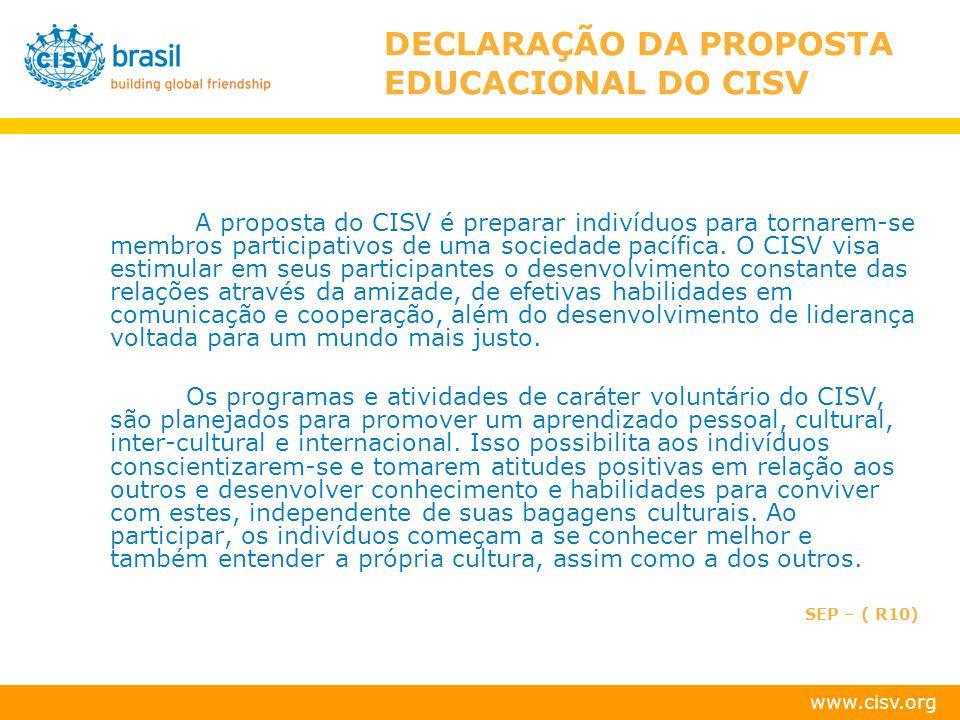www.cisv.org PROPOSTA CISV BRASIL