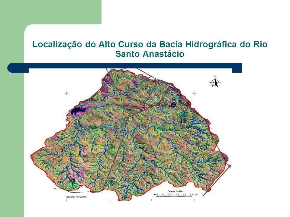 Localização do Alto Curso da Bacia Hidrográfica do Rio Santo Anastácio