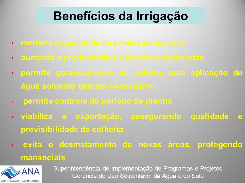 Superintendência de Implementação de Programas e Projetos Gerência de Uso Sustentável da Água e do Solo melhora a qualidade da produção agrícola aumen