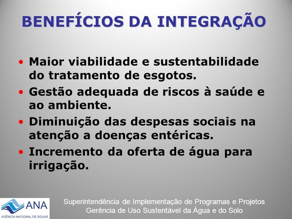 Superintendência de Implementação de Programas e Projetos Gerência de Uso Sustentável da Água e do Solo Maior viabilidade e sustentabilidade do tratam