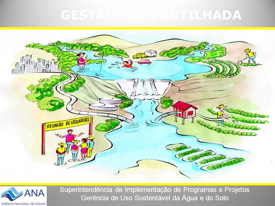Superintendência de Implementação de Programas e Projetos Gerência de Uso Sustentável da Água e do Solo GESTÃO COMPARTILHADA
