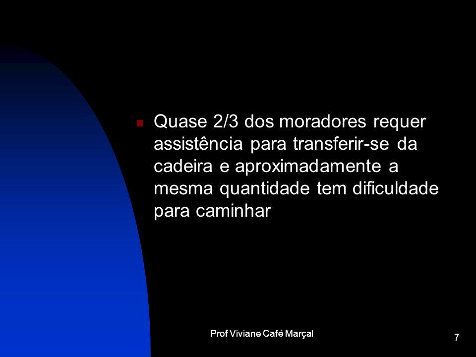 Prof Viviane Café Marçal 7 Quase 2/3 dos moradores requer assistência para transferir-se da cadeira e aproximadamente a mesma quantidade tem dificulda