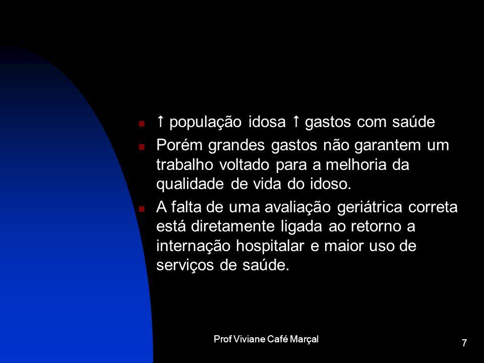 Prof Viviane Café Marçal 7 população idosa gastos com saúde Porém grandes gastos não garantem um trabalho voltado para a melhoria da qualidade de vida