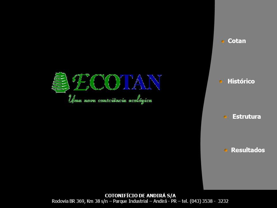 Estrutura Histórico Resultados Cotan COTONIFÍCIO DE ANDIRÁ S/A Rodovia BR 369, Km 38 s/n – Parque Industrial – Andirá - PR – tel. (043) 3538 - 3232
