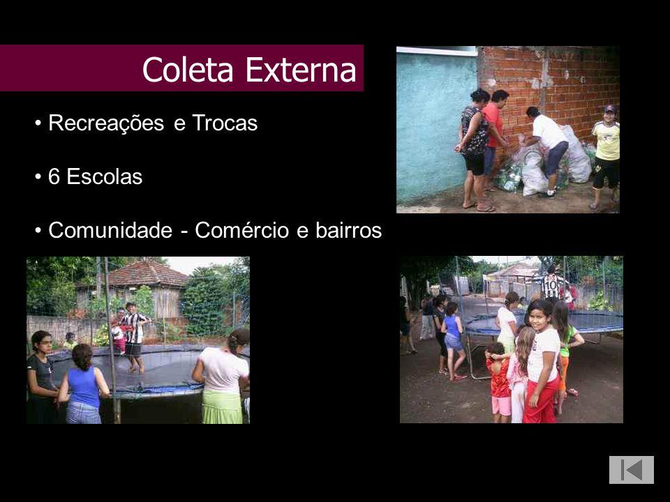 Recreações e Trocas 6 Escolas Comunidade - Comércio e bairros Coleta Externa