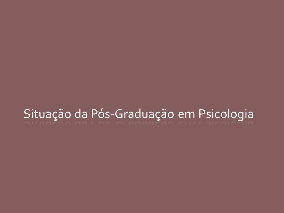 Evolução - Programas da PG em Psicologia
